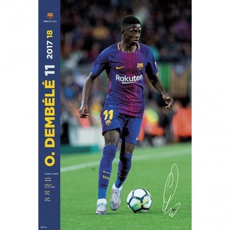 Poster Fc Barcelona 2017/2018 Dembele
