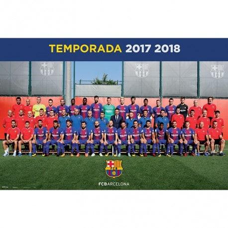 Poster Fc Barcelona 2017/2018 Plantilla