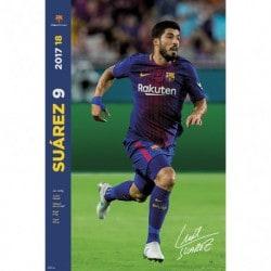 Poster Fc Barcelona 2017/2018 Suárez