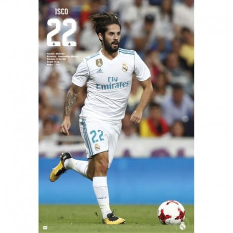 Poster Real Madrid 2017/2018 Isco