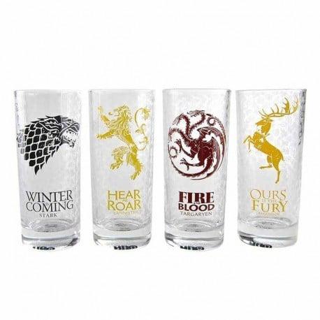 Set 4 Vasos Juego de Tronos