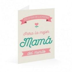 Tarjeta Felicitacion Eres La Mejor Mama Del Mundo