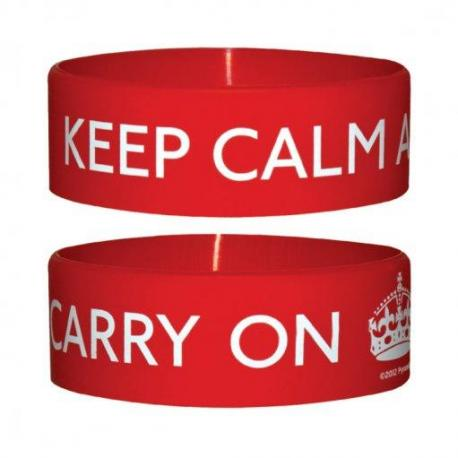 Pulsera Silicona Keep Calm And Carry On