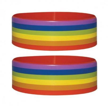 Pulsera Silicona Pride Stripes