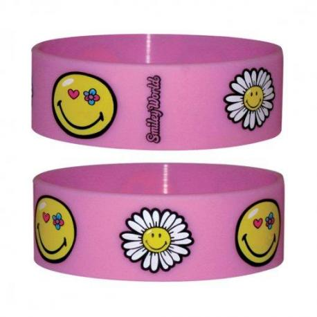 Pulsera Silicona Smile-Flowers