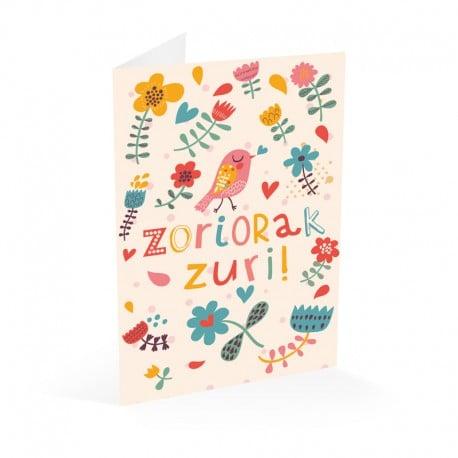 Tarjeta Felicitacion Cumpleaños Zoriorak Zuri