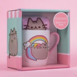 Taza + Calcetín Pusheen Unicornio