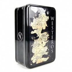 Caja Metalica Juego de Tronos Mapa Westeros