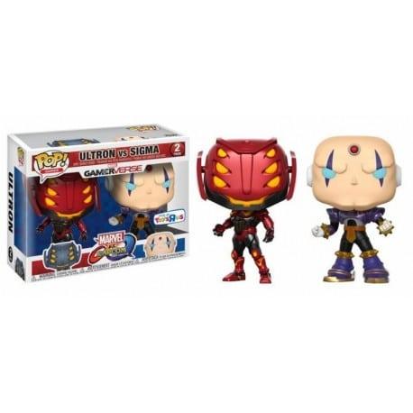 Figura Pop 2 Pack Capcom Vs Marvel Ultron Vs Sigma - 9 cm