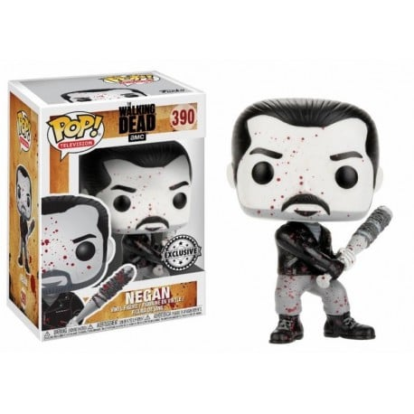 Figura Pop The Walking Dead Negan Black And White - 9 cm