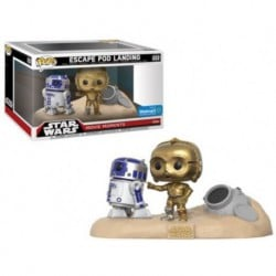 Figura Pop 2 Pack Star Wars Movie Moments R2 D2 And C3 Po Desert - 9 cm