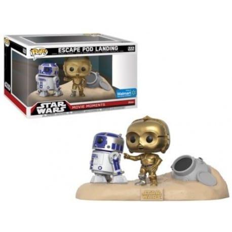 Figura Pop 2 Pack Star Wars Movie Moments R2 D2 And C3 Po Desert - 9 cm