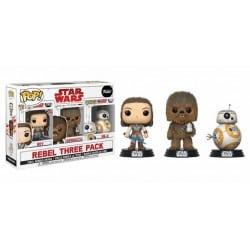 Figura Pop Star Wars 3 Pack The Last Jedi Good Guys - 9 cm