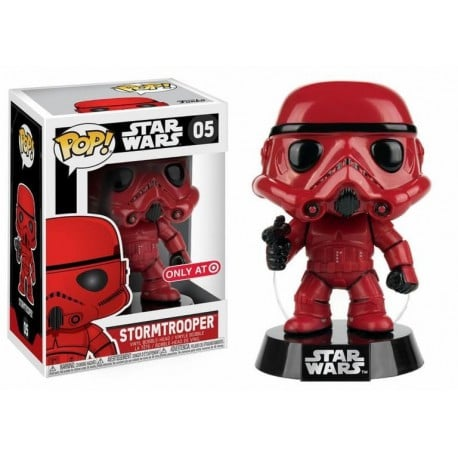 Figura Pop Star Wars Red Stormtrooper - 9 cm