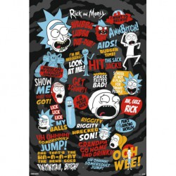 Poster Rick and Morty Quotes