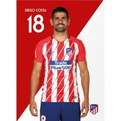 Postal Atletico Madrid 2017/2018 Diego Costa