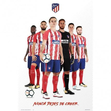 Poster Atletico De Madrid 2017 2018 Grupo Jugadores 2