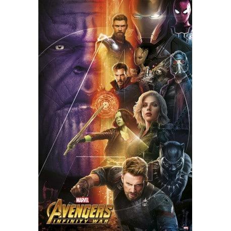 Poster Marvel Los Vengadores Infinity War 1