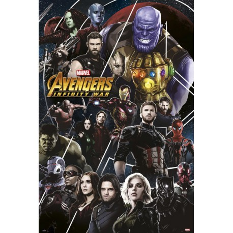 Poster Marvel Los Vengadores Infinity War 2