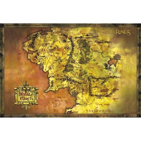 Poster Lord Of The Rings Classic Map