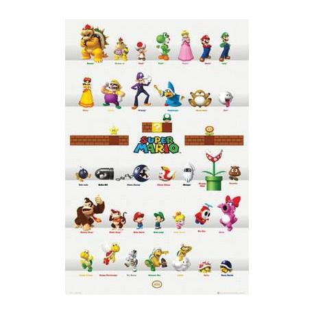 Poster Nintendo Characters
