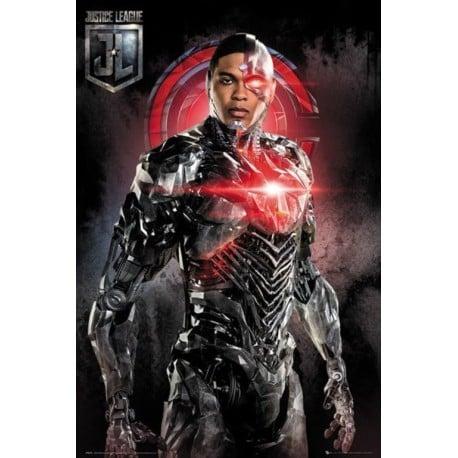 Poster Liga de la Justicia Cyborg
