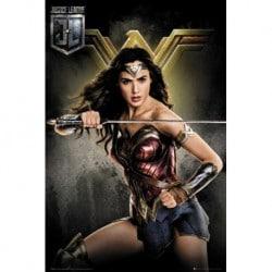 Poster Liga de la Justicia Wonder Woman