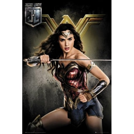 Poster liga de la justicia wonder woman for Puerta wonder woman