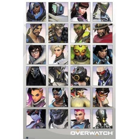 Poster Overwatch Retrato de Personaje