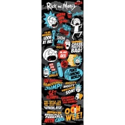 Poster Puerta Rick & Morty Quotes