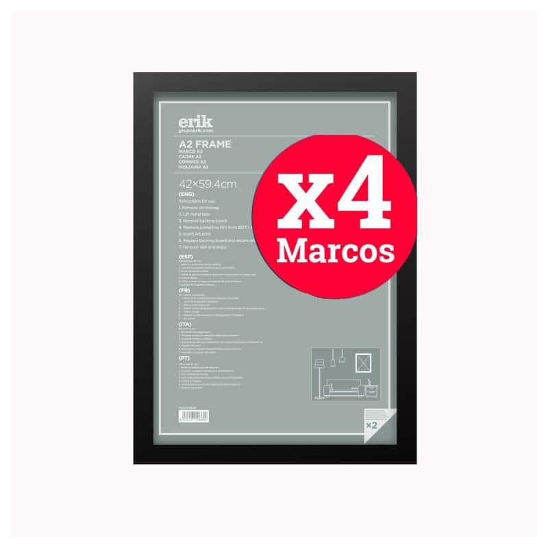 Pack de 4 marcos negro a2 42 x - Marcos para posters ...
