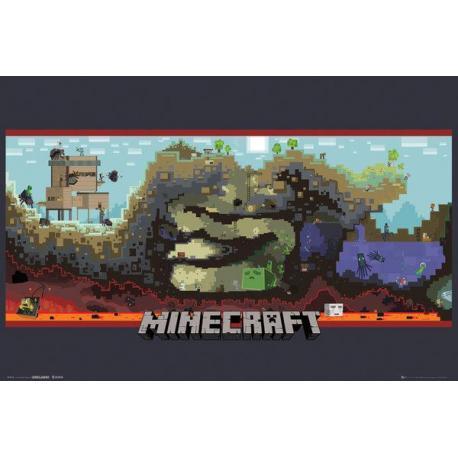 Poster Minecraft Bajo Tierra
