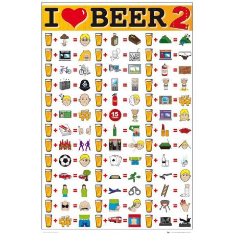Poster I Love Beer 2