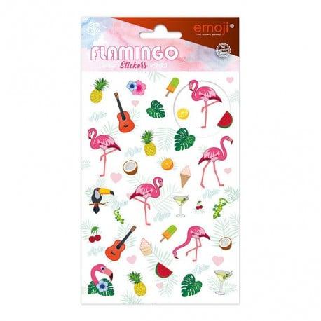 Set de Pegatinas Emoji Flamingo