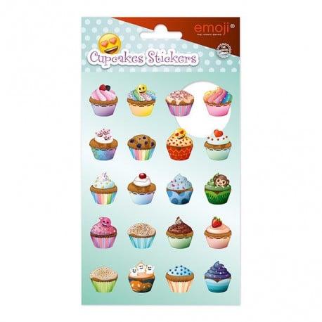 Set de Pegatinas Emoji Cupcakes