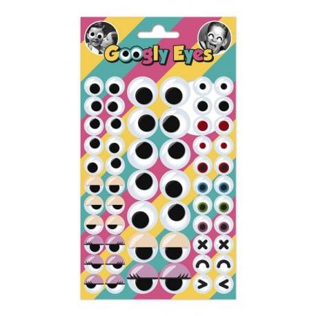 Set de Pegatinas Googly Eyes