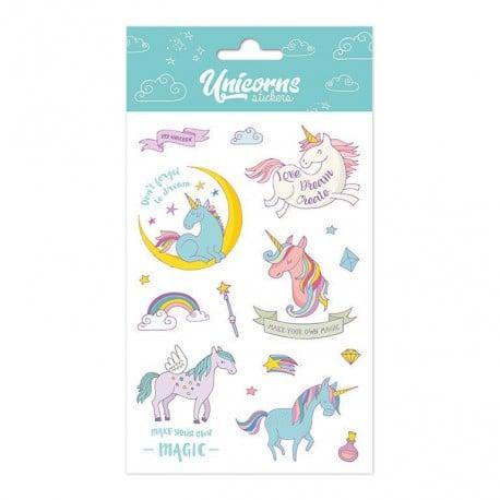 Set de Pegatinas Unicorn