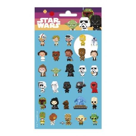 Set de Pegatinas Star Wars 8Bits