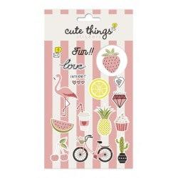 Set de Pegatinas Cute Things