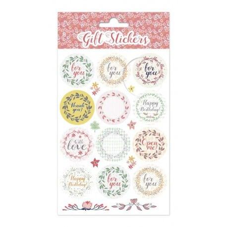 Set de Pegatinas Coronas Flores