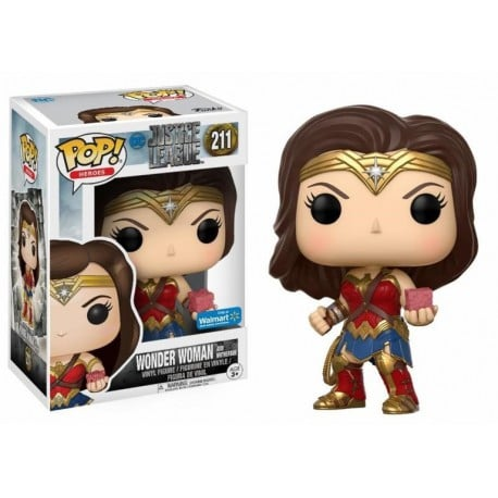 Pop Vinyl Justice League Wonder Woman With Mother Box