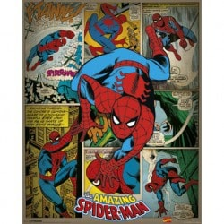 Mini Poster Marvel Comics - Spider-Man (Retro)