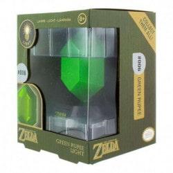 Lampara 3D Zelda Green Rupee