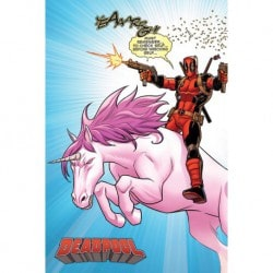 Poster Deadpool Unicornio
