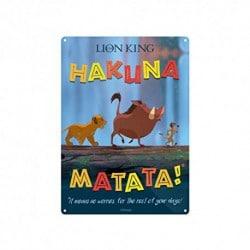 Placa Metalica Disney El Rey Leon Hakuna Matata