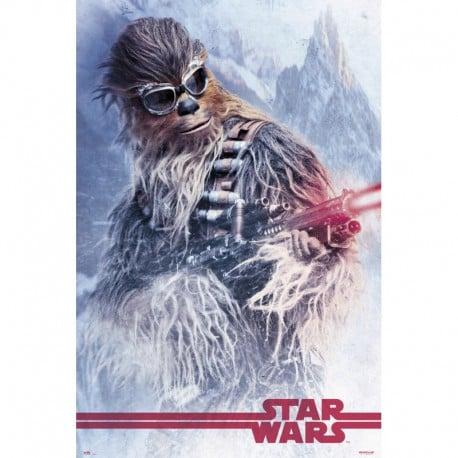 Poster Star Wars Solo Chewbacca en el Trabajo