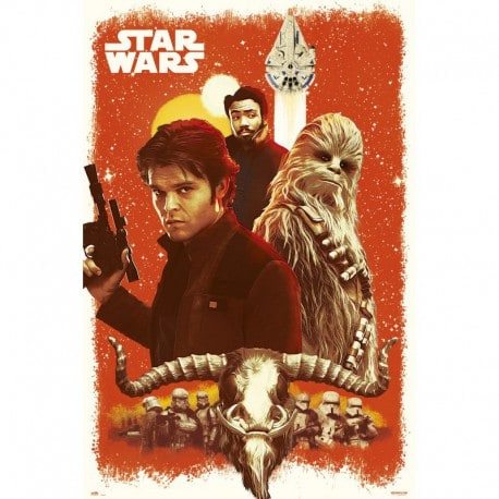Poster Star Wars Solo Viejos Amigos