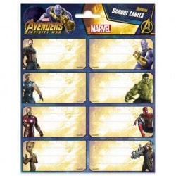 Etiquetas Escolares Avengers Infinity War