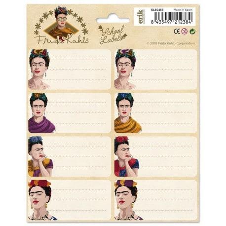 Etiquetas Escolares Frida Kahlo