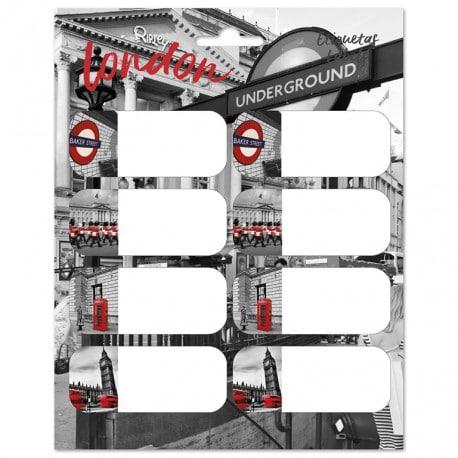 Etiquetas Escolares London